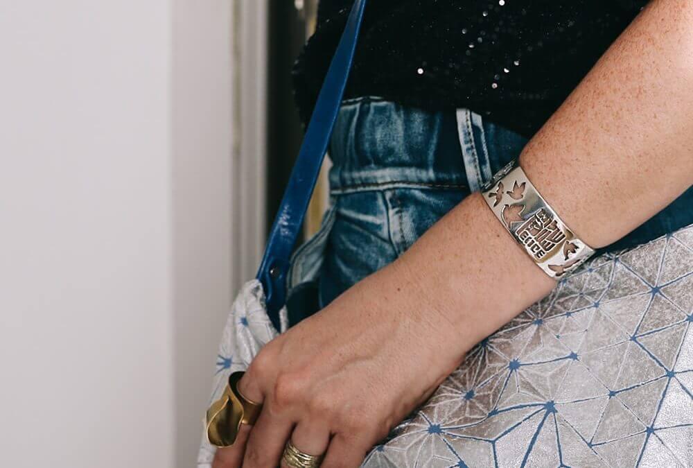 """צמיד כסף """"שלום"""" של Indimaj Jewelry"""